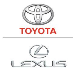 Toyota logo, Lexus logo