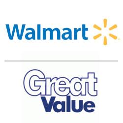 Walmart logo, Great Value logo