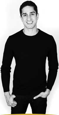 Daryl Weber in black sweater