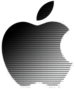 Apple logo fading to ASCII