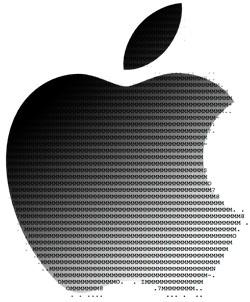 Apple logo fading to ASCII