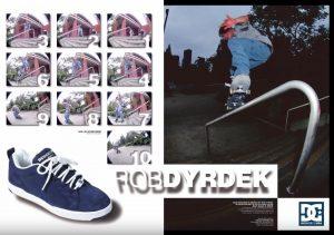 DC Shoes magazine ad featuring Rob Dyrdek