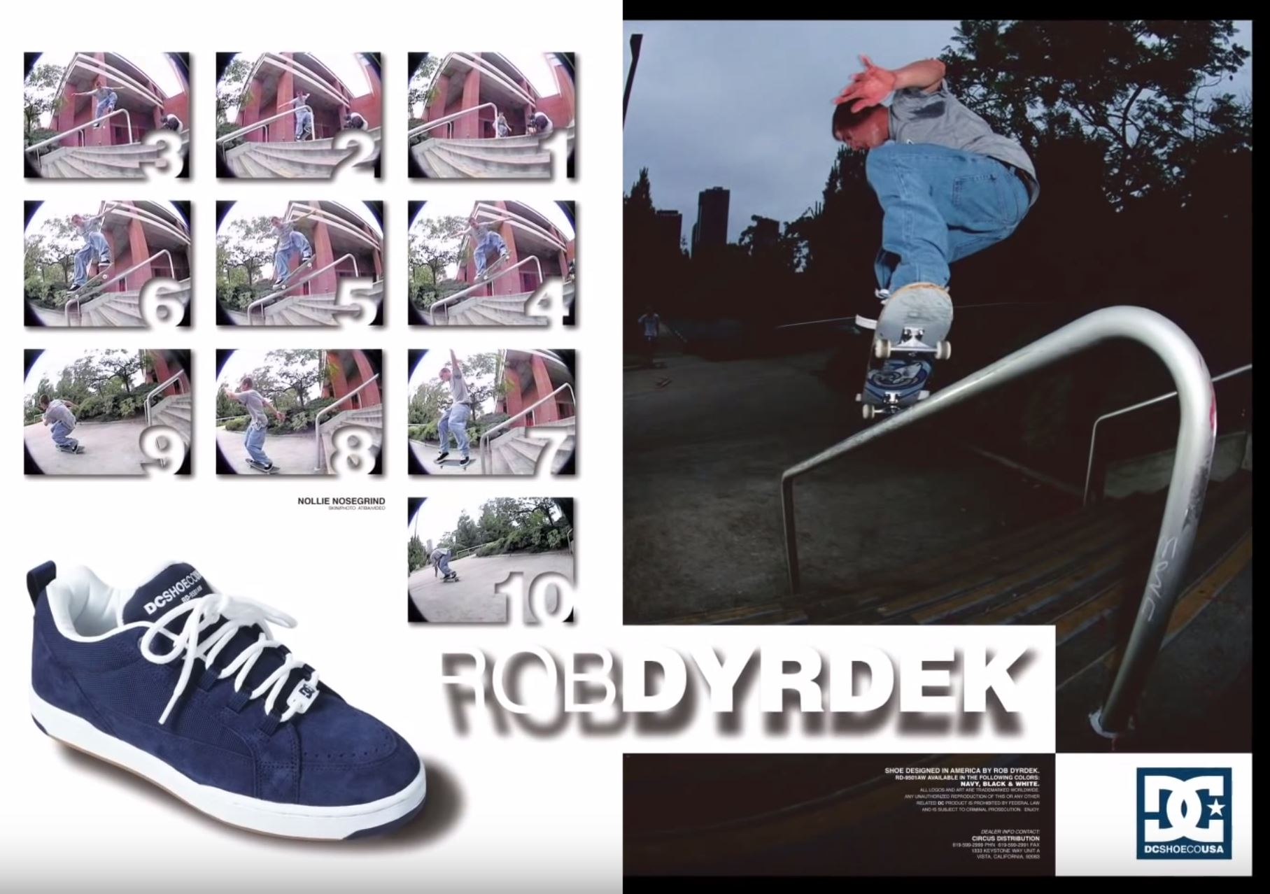 An early DC Shoes add featuring skater Rob Drydek. efceb8e2cb