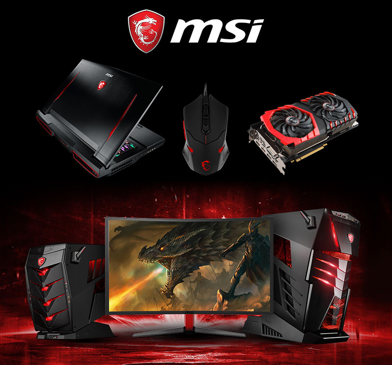The line of MSI computer products