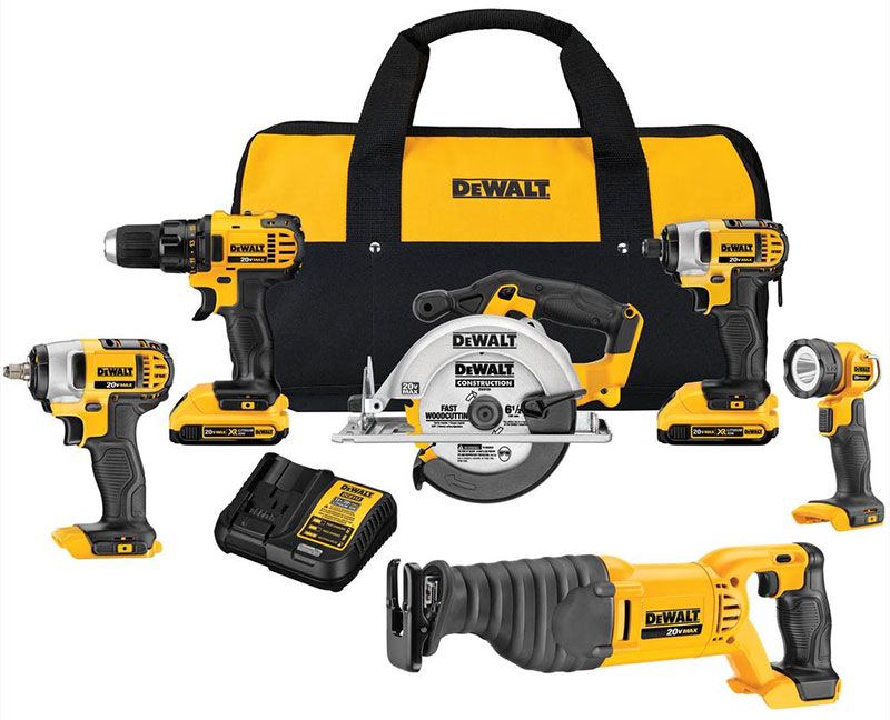 The Dewalt line of products has strong visual language.