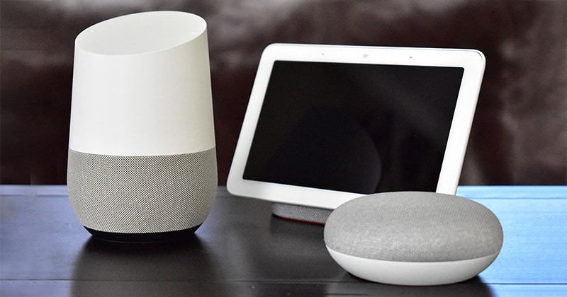 Visual language of Google Nest product line.