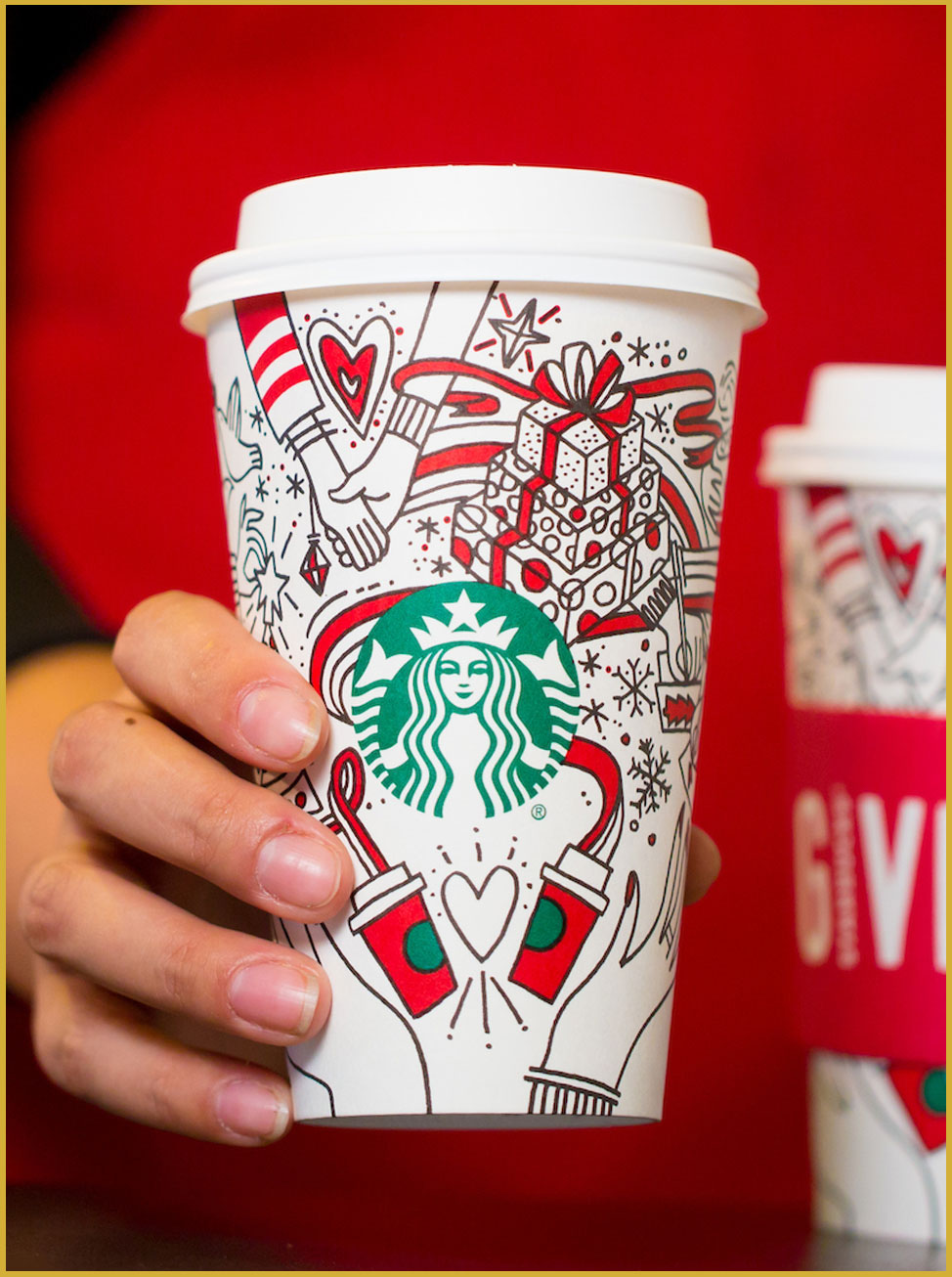 Starbucks holiday cup for 2017
