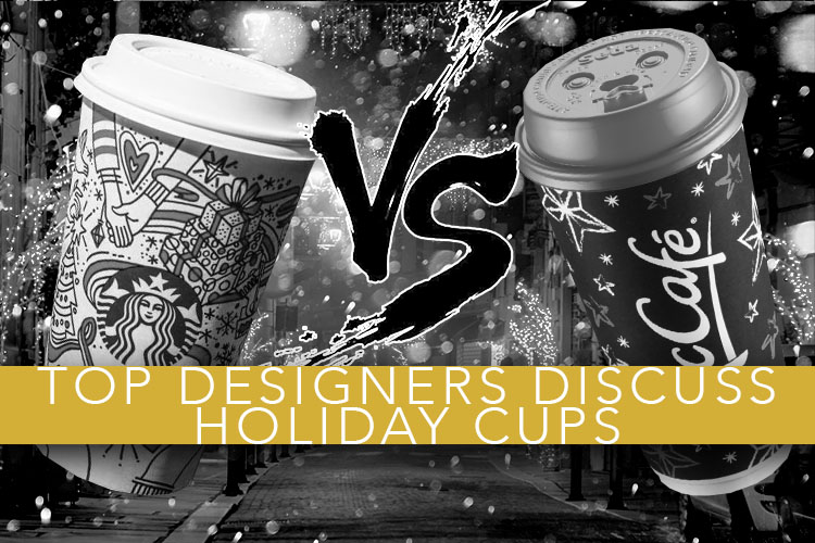Top Designers Discuss Holiday Cups. The Starbucks 2017 Holiday cup vs. The McCafe 2017 Holiday Cup.