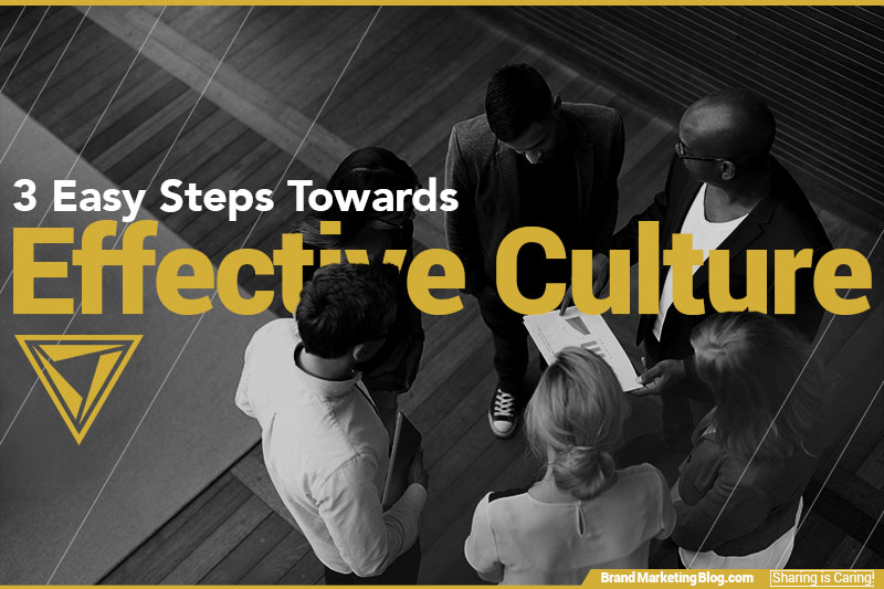 3 Easy Steps Toward Effective Culture. Six colleagues looking over a paper in a huddle.