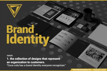 """Brand Identity definition. noun. 1. the collection of designs that represent an organization to customers. """"Coca-cola has a brand identity everyone recognizes."""""""