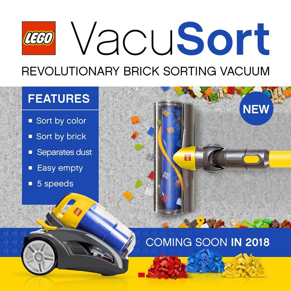 lego vacuum vacusort april fools 2018