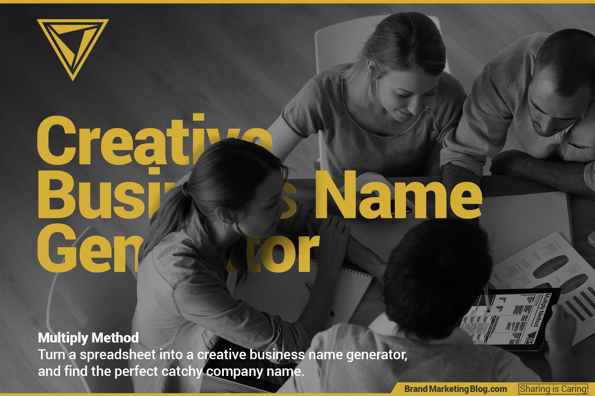 Creative Business Name Generator. A group of marketing professionals brainstorming business names.