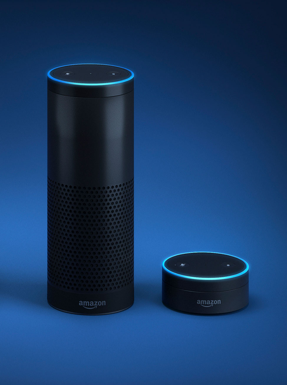 Amazon Echo Plus, and Amazon Echo Dot smart speakers
