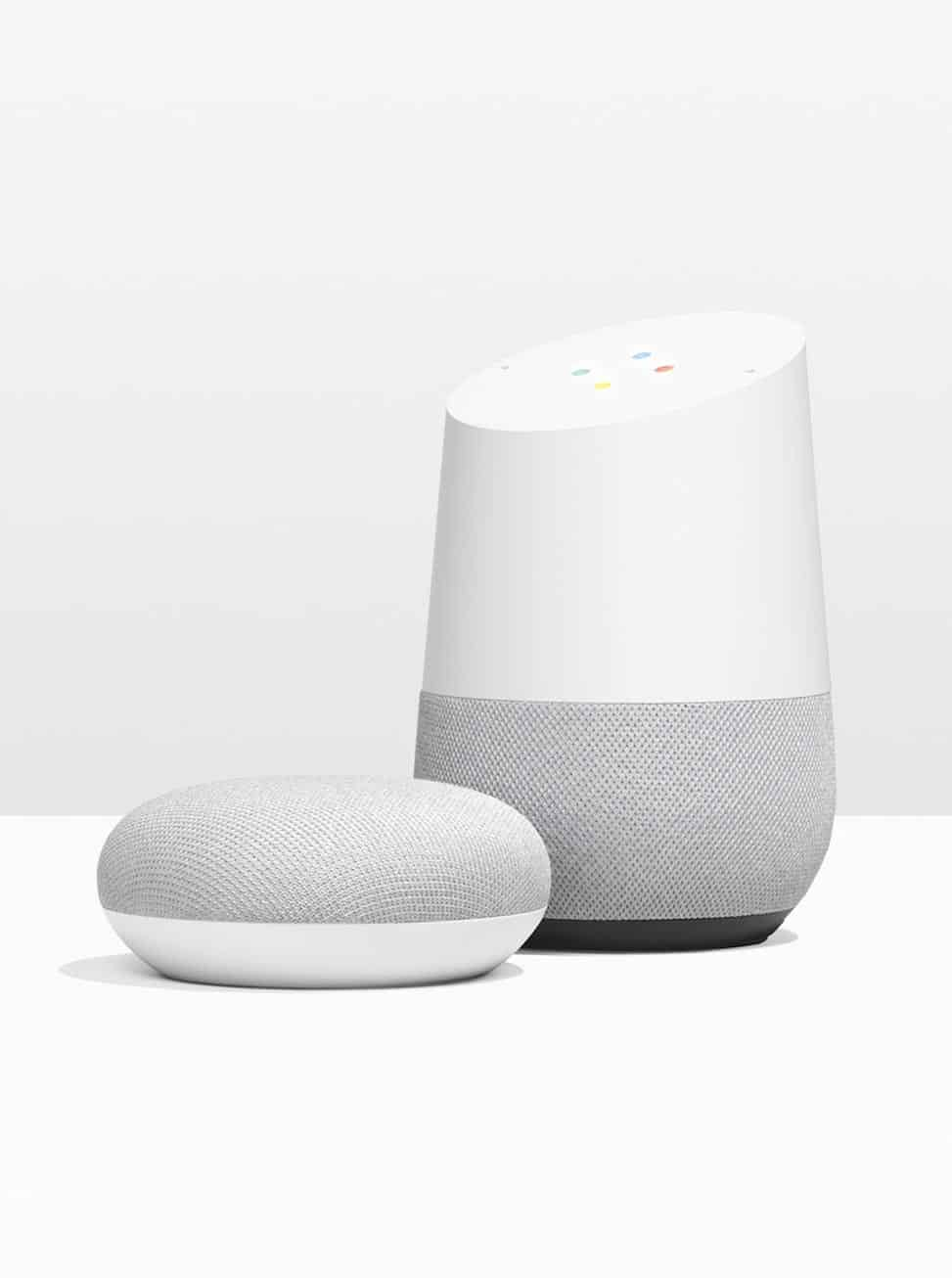 Google Home and Google Home Mini smart speakers