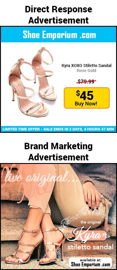 Direct Response Advertisement. Shoe Emporium .com. Sale price. The original Kyra XOXO stiletto sandal. Live original.