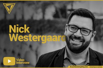Nick Westergaard video interview. Nick standing in a park.