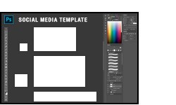 social media template psd bmb
