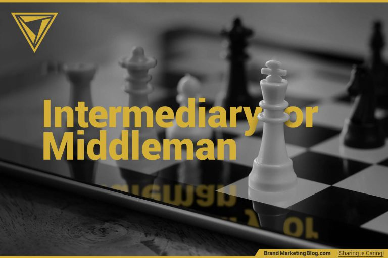 Intermediary or Middleman. Business chess match