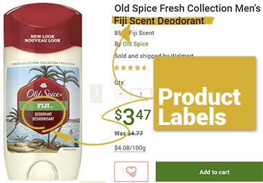 Old Spice Fiji Scent Deoderant - product label example