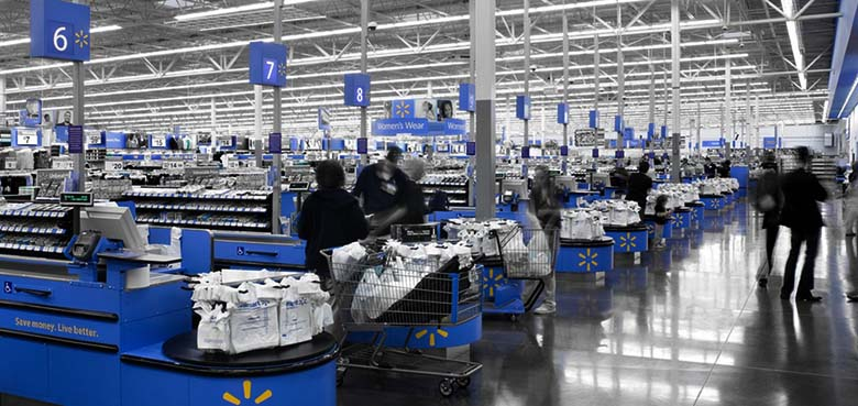Walmart cash registers checkout
