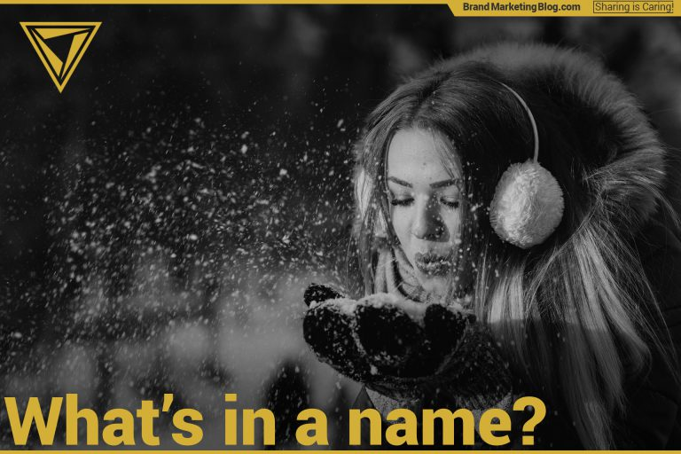 Beautiful woman blowing snow. What's in a name? Naming a lifestyle brand.