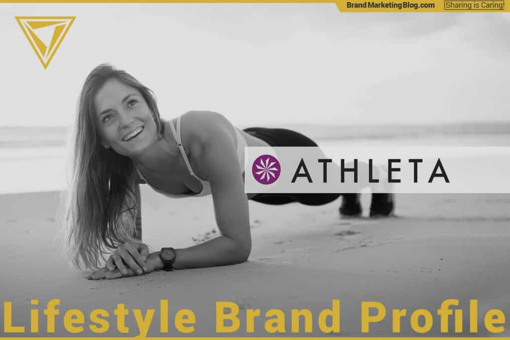 Athleta. Lifestyle brand profile. A beautiful woman doing a plank on a beach in Athleta clothing.