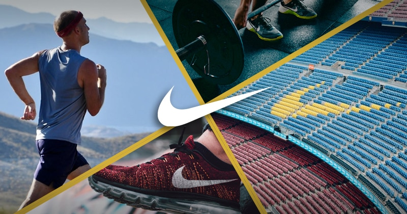 The Nike brand is associated with running, training, sports, and shoes.