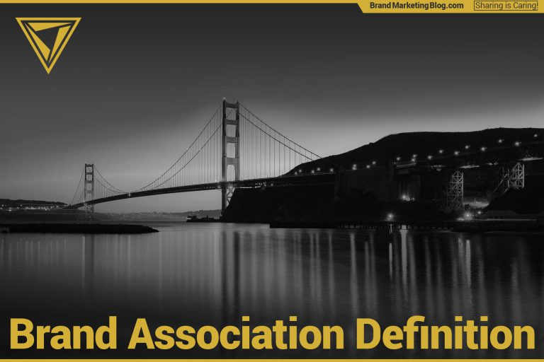 Brand Association Definition. Golden Gate Bridge in black and white.