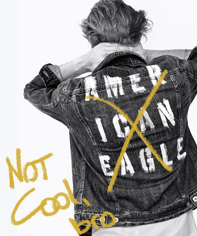 "American Eagle hit by a change in social norms. ""Not Cool Bro"""
