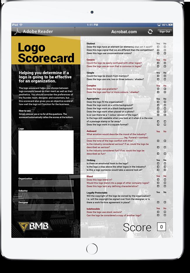 Logo Scorecard on iPad Air