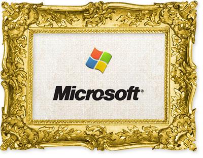 The old Microsoft logo