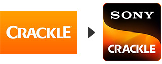 The old Crackle logo and new Sony Crackle logo