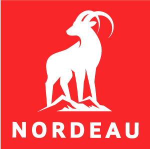 The logo of Nordeau, the ski brand.