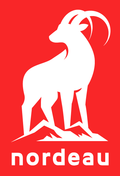 Logo for the ski snowboard lifestyle brand, Nordeau.