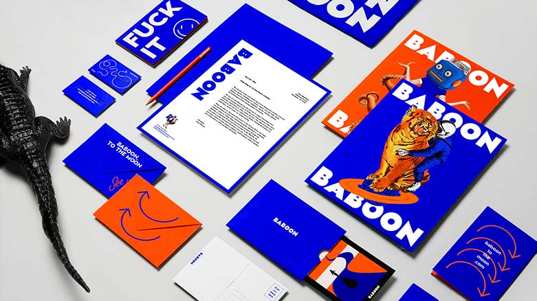 Baboon stationary design by Daniel Brokstad