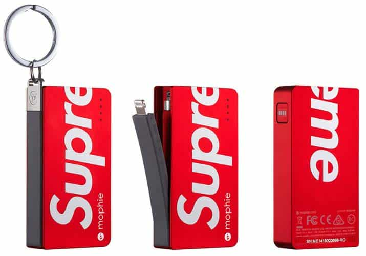 Supreme Mophie power bank.