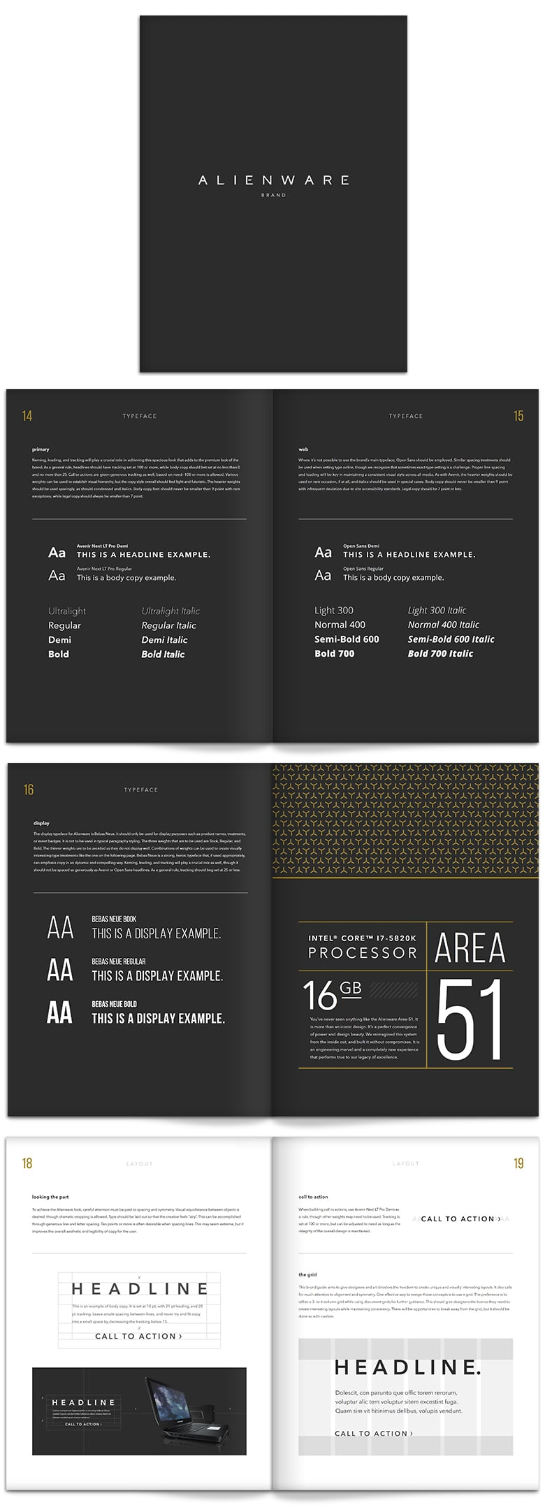 Alienware Brand Guidelines for fonts