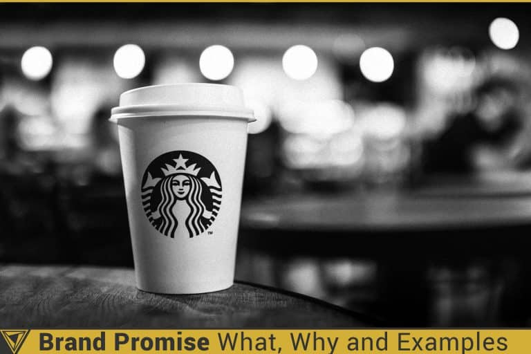 Brand Promise: What, Why, and Examples. Starbucks logo on a cup promises that there is great coffee inside.