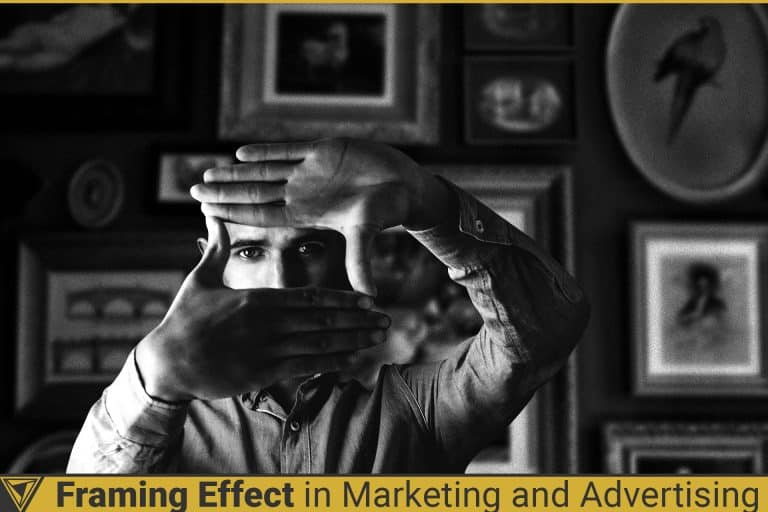 Man framing his face. Framing Effect in Marketing and Advertising