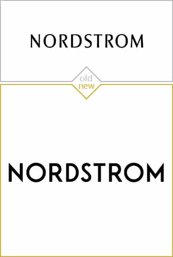 Old and new logo design of Nordstrom