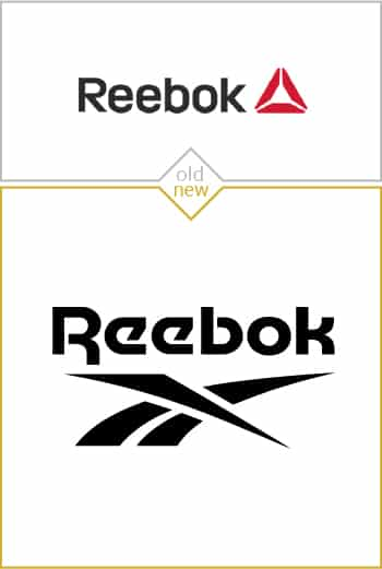 Old and new logo design of Reebok