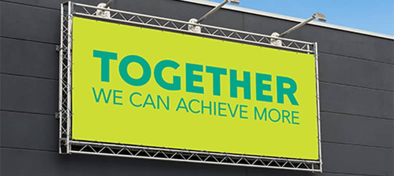 Fascia sign. Together we can achieve more.