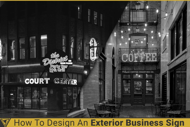 How to design an exterior business sign,