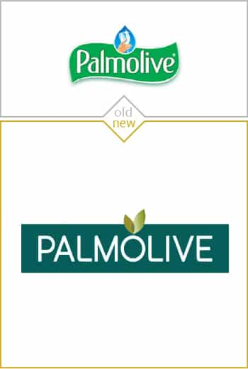 Old and new logo design of Palmolive