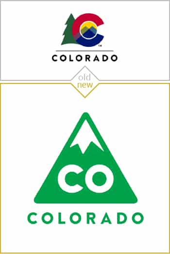 Old and new logo design of Colorado state