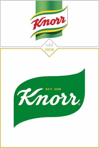 Old and new logo design of Knorr