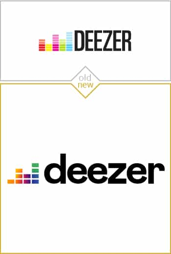 Old and new logo design of Deezer