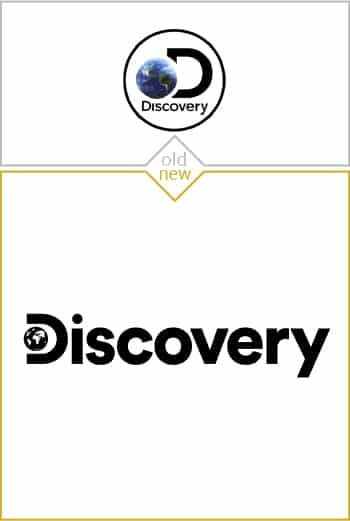 Old and new logo design of Discovery Channel