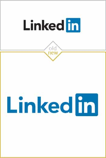 Old and new logo design of LinkedIn
