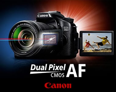 Ad for Dual Pixel AF - CMOS for Canon.